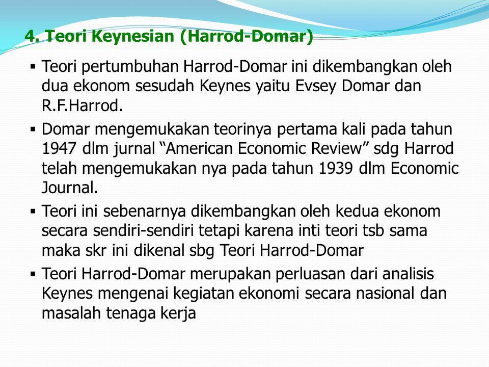 4. Teori Keynesian (Harrod-Domar)