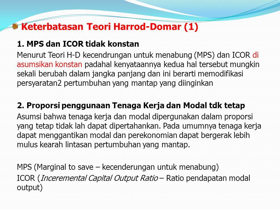 Keterbatasan Teori Harrod-Domar (1)