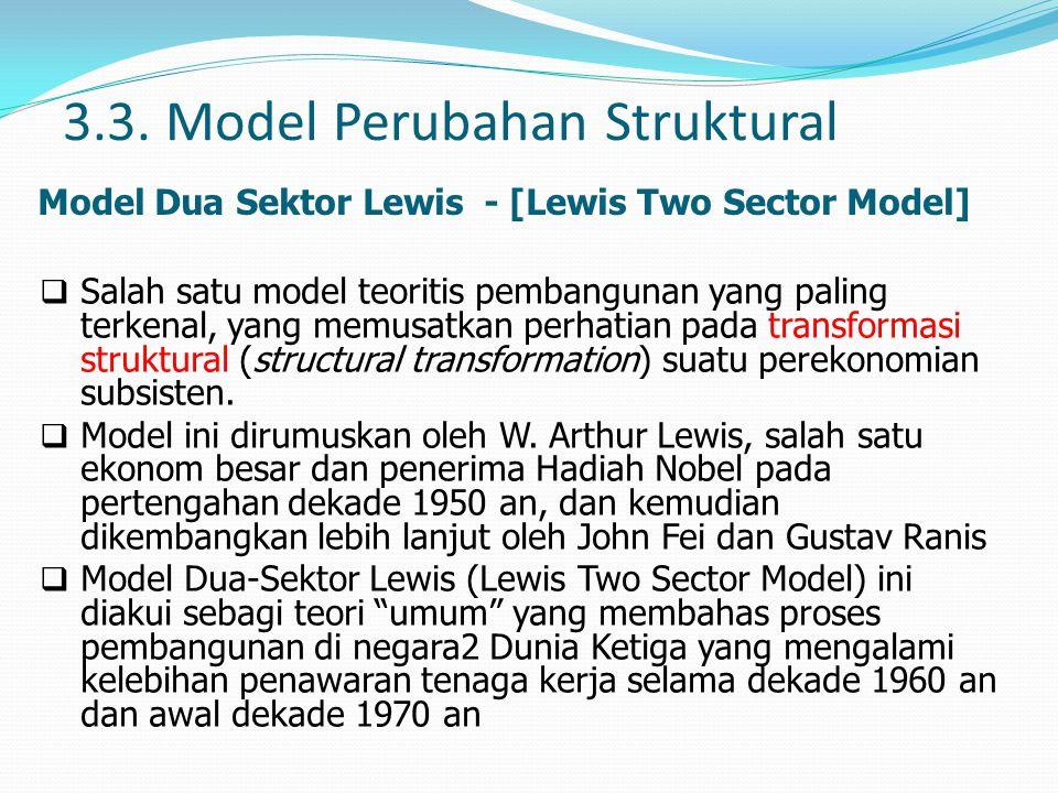 3.3. Model Perubahan Struktural