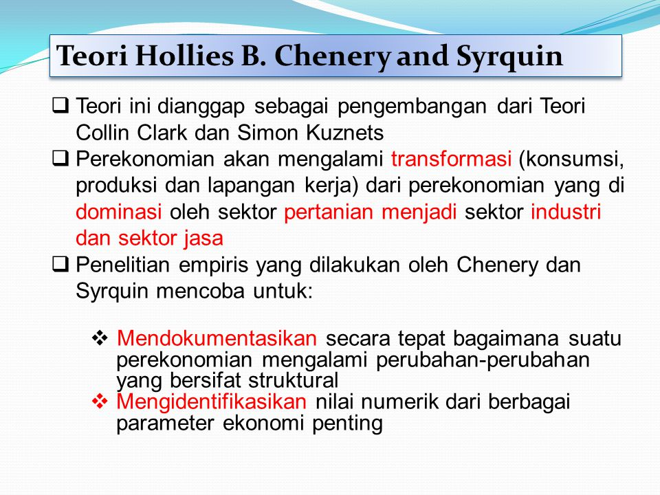 Teori Hollies B. Chenery and Syrquin