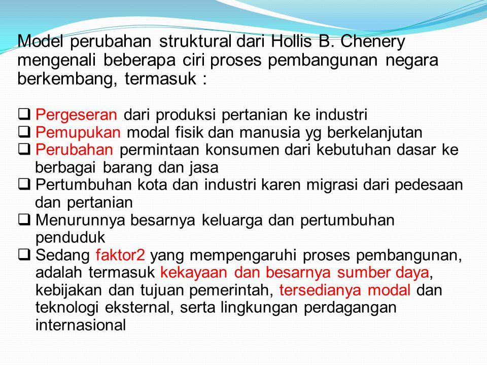 Model perubahan struktural dari Hollis B