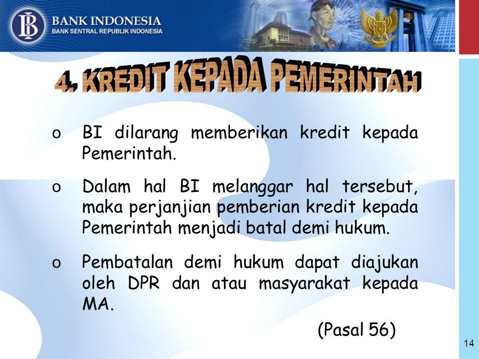 4. KREDIT KEPADA PEMERINTAH