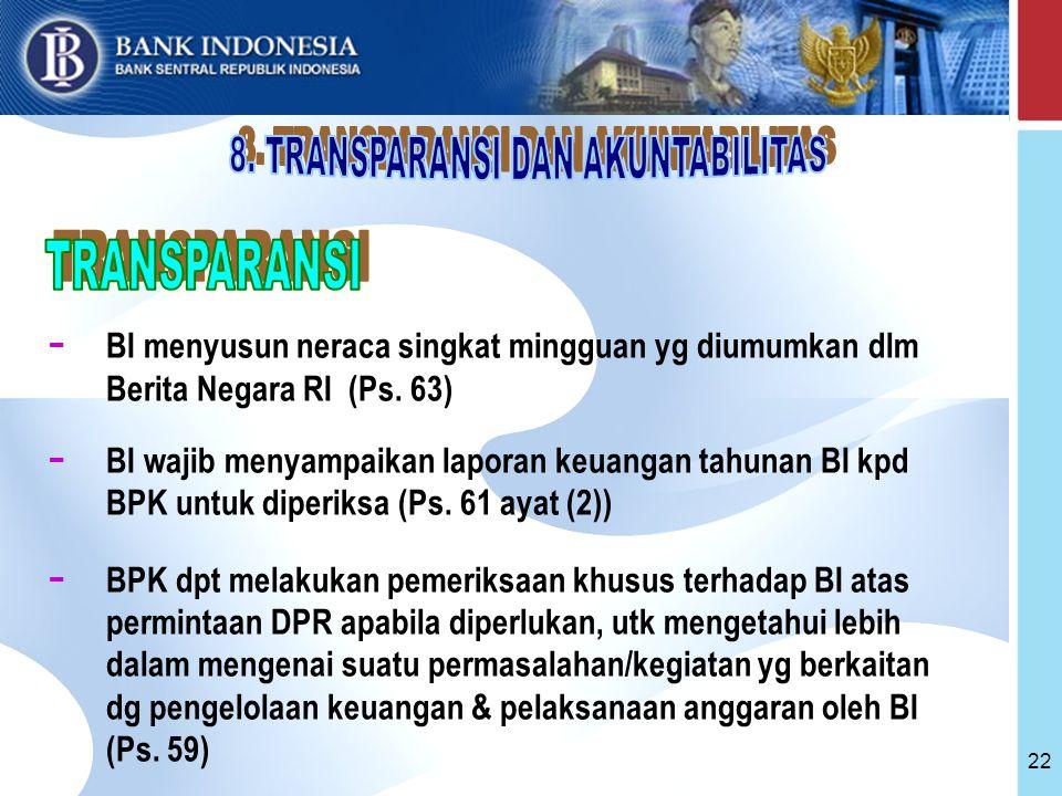 8. TRANSPARANSI DAN AKUNTABILITAS
