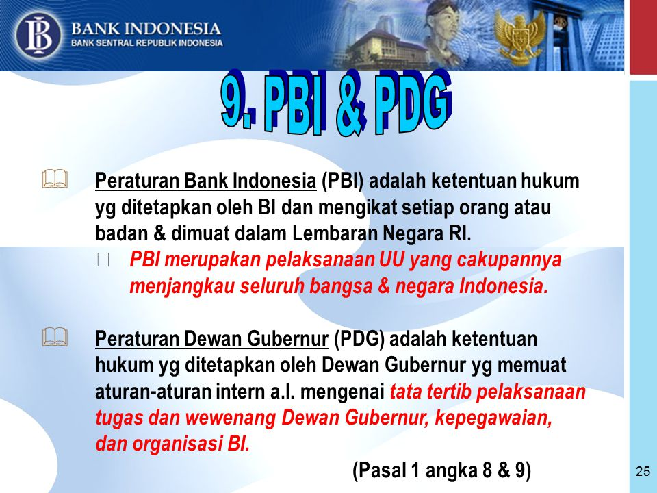 9. PBI & PDG