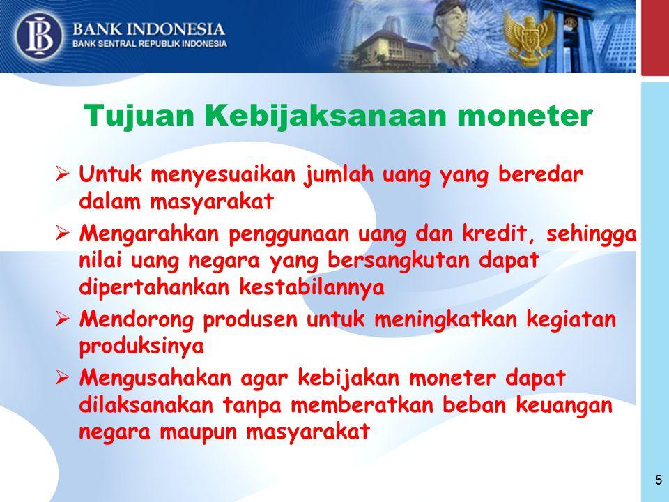 Tujuan Kebijaksanaan moneter