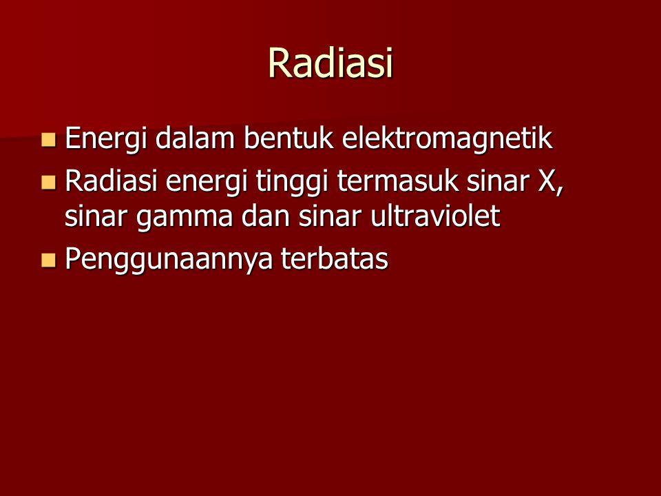 Radiasi Energi dalam bentuk elektromagnetik