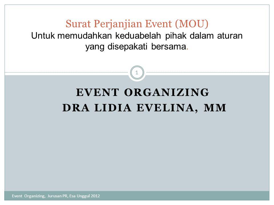 Event Organizing Dra Lidia Evelina, MM