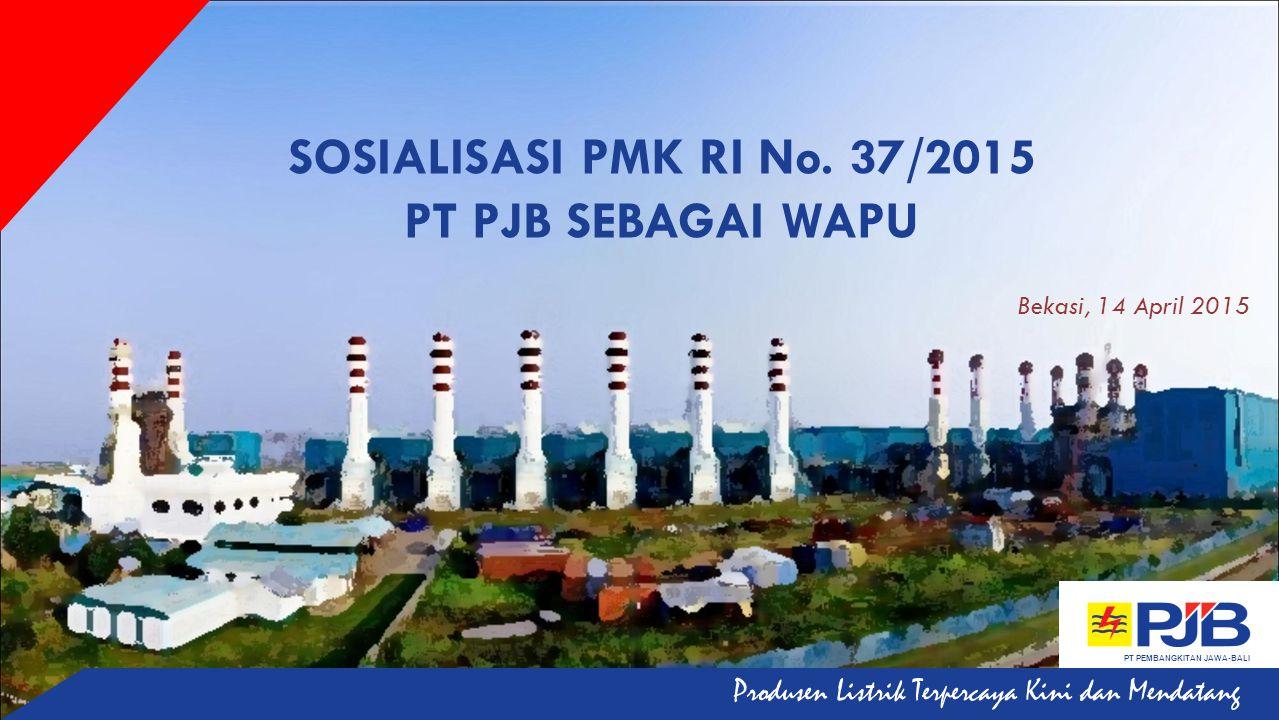 SOSIALISASI PMK RI No. 37/2015 PT PJB SEBAGAI WAPU