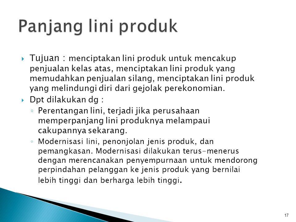 Panjang lini produk