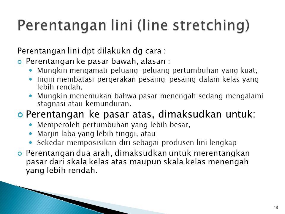 Perentangan lini (line stretching)