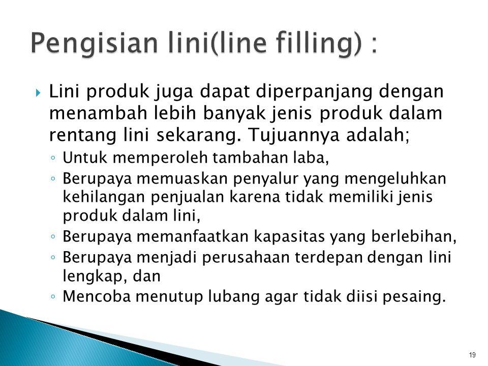 Pengisian lini(line filling) :