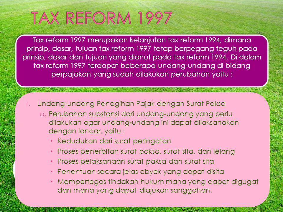 TAX REFORM 1997