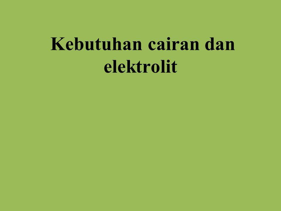 Kebutuhan cairan dan elektrolit