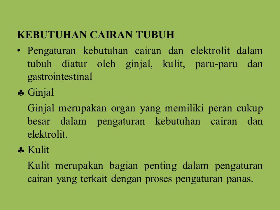 KEBUTUHAN CAIRAN TUBUH