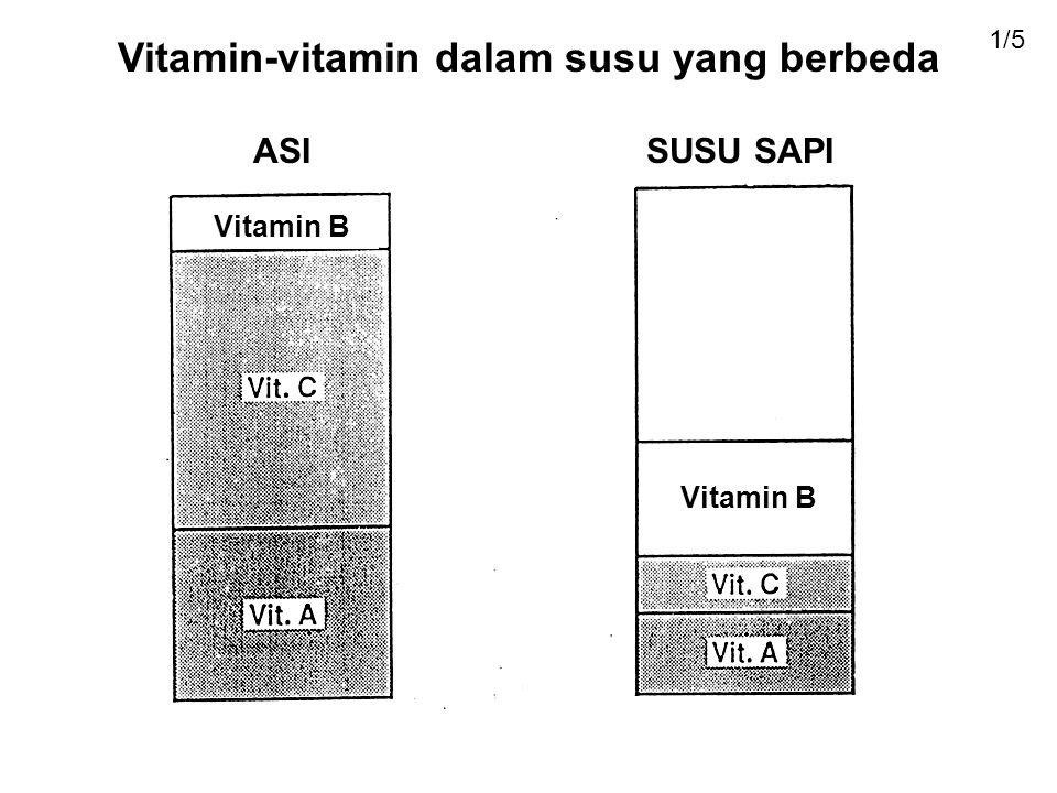 Vitamin-vitamin dalam susu yang berbeda
