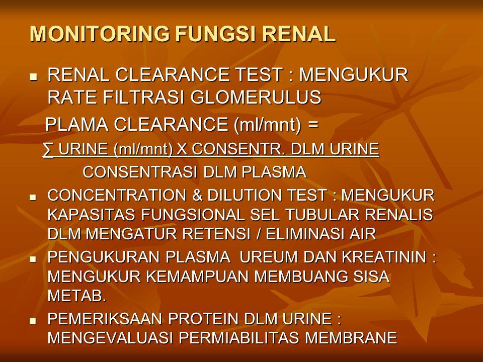 MONITORING FUNGSI RENAL
