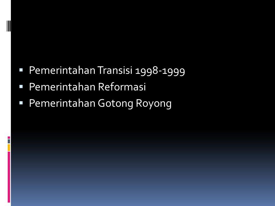 Pemerintahan Transisi 1998-1999