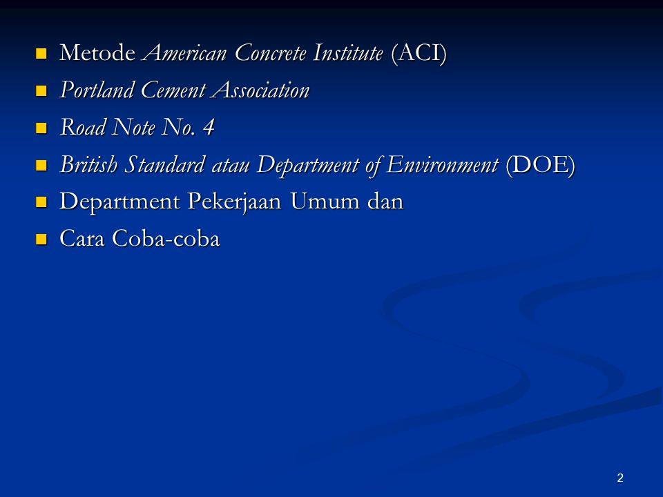Metode American Concrete Institute (ACI)