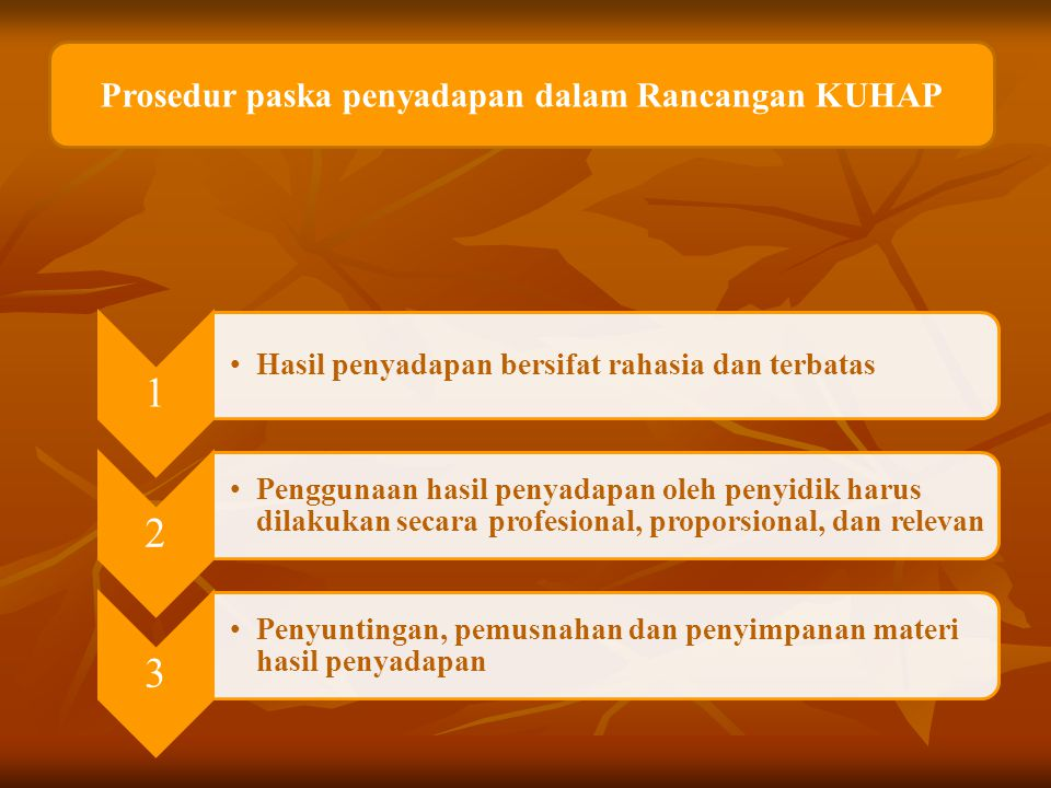 Prosedur paska penyadapan dalam Rancangan KUHAP