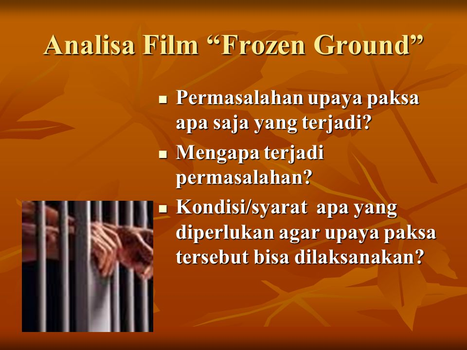 Analisa Film Frozen Ground