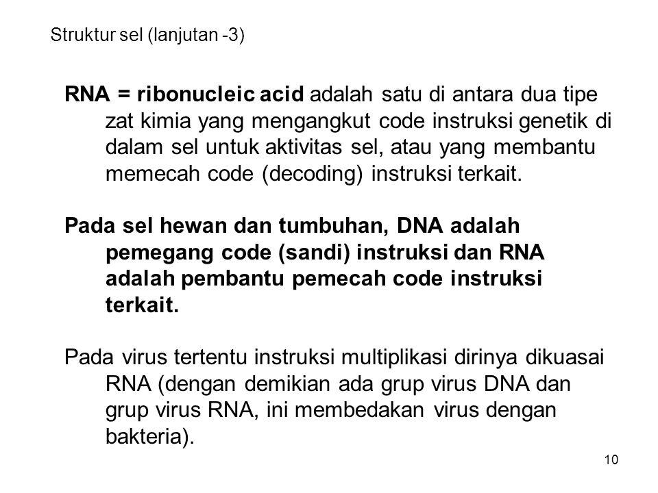 Struktur sel (lanjutan -3)