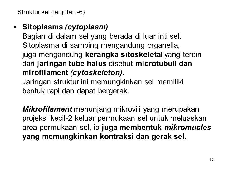 Struktur sel (lanjutan -6)