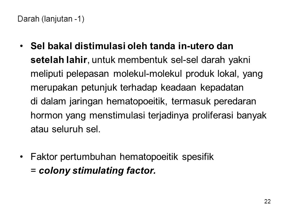 Sel bakal distimulasi oleh tanda in-utero dan