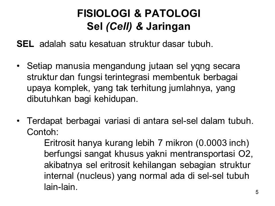 FISIOLOGI & PATOLOGI Sel (Cell) & Jaringan