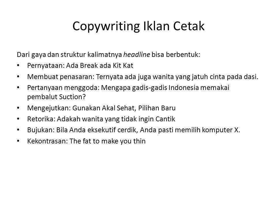 Copywriting Iklan Cetak