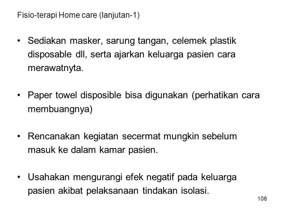 Fisio-terapi Home care (lanjutan-1)