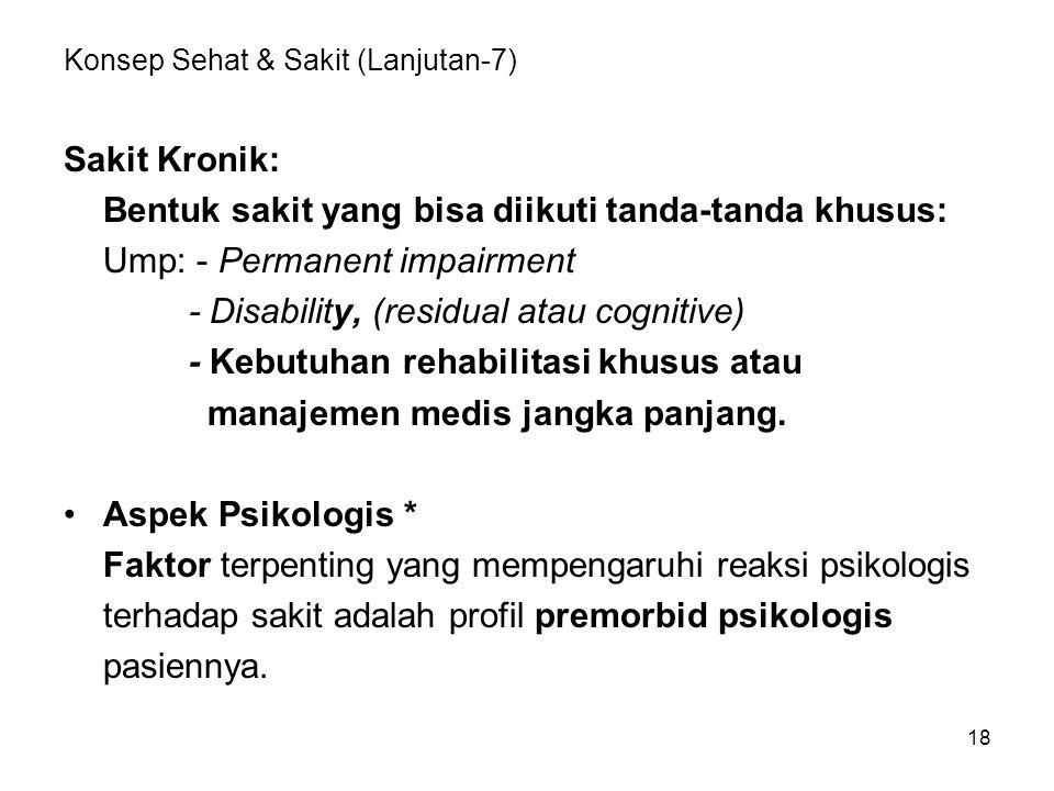 Konsep Sehat & Sakit (Lanjutan-7)