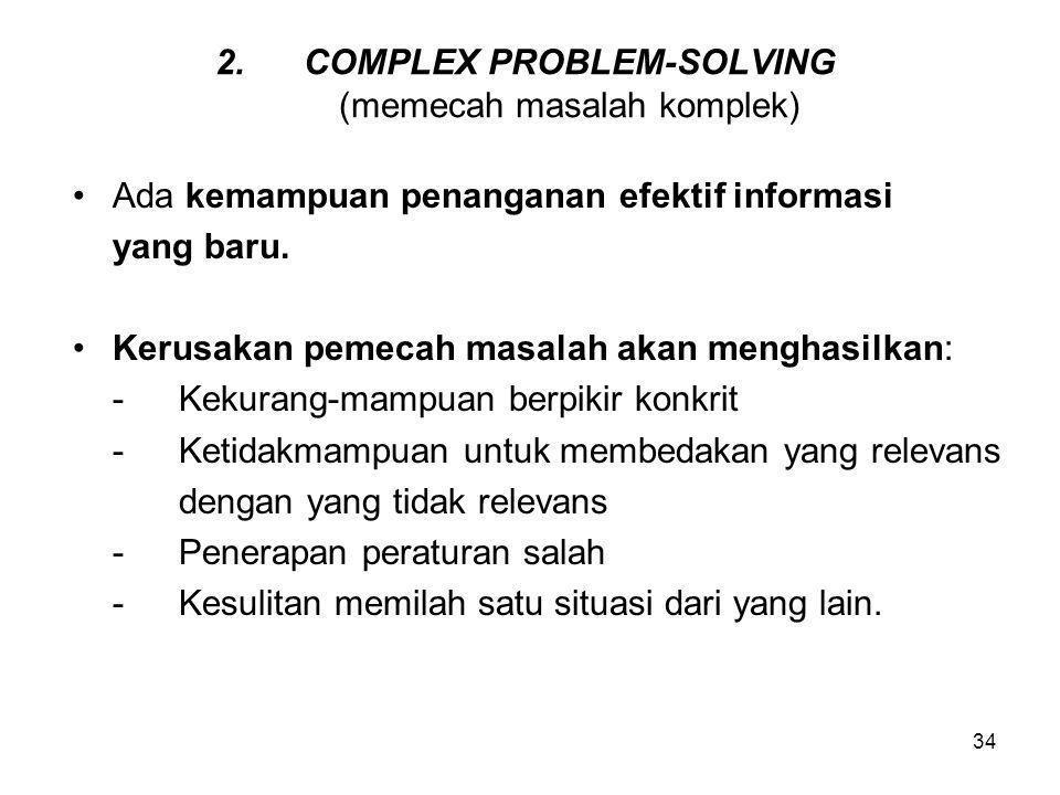 COMPLEX PROBLEM-SOLVING (memecah masalah komplek)