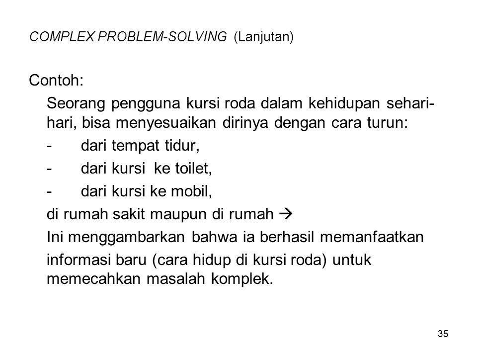 COMPLEX PROBLEM-SOLVING (Lanjutan)