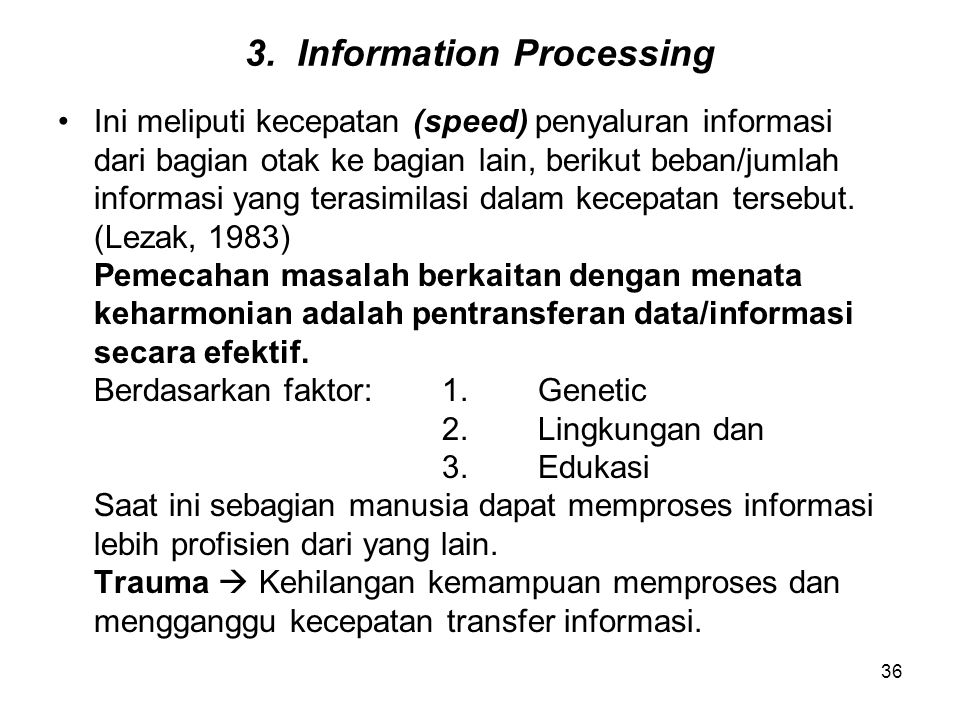 3. Information Processing