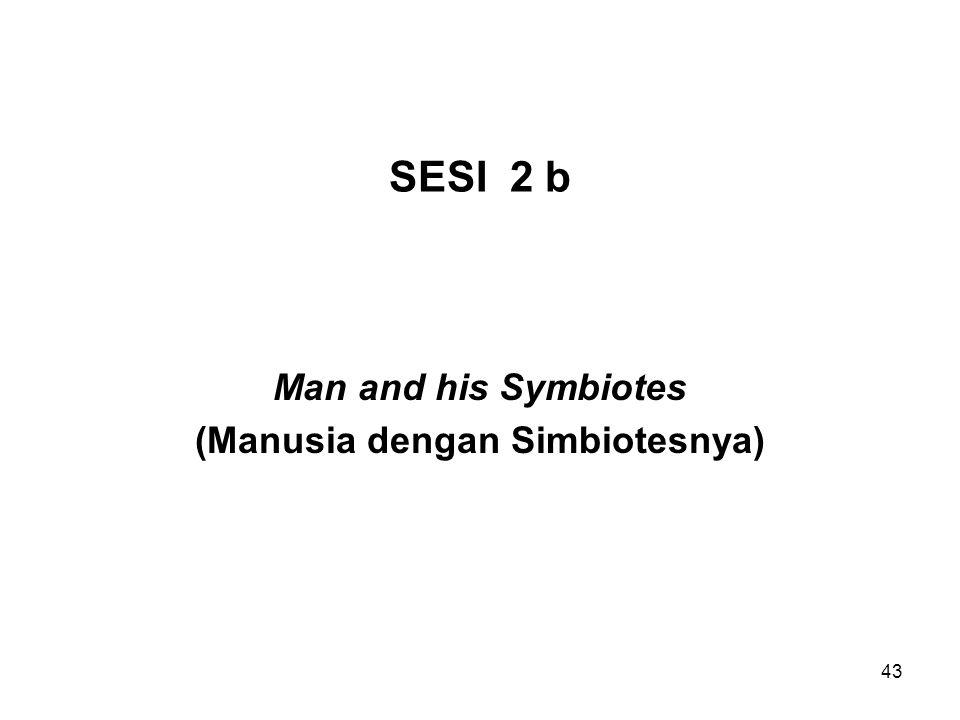Man and his Symbiotes (Manusia dengan Simbiotesnya)