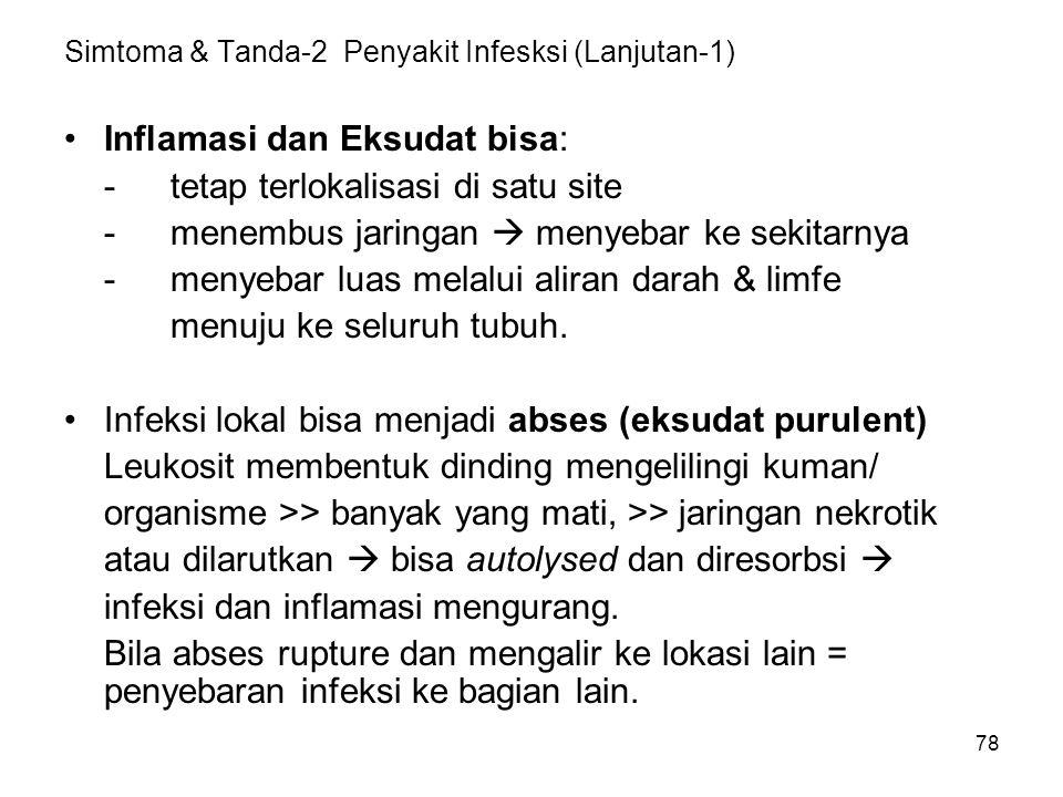 Simtoma & Tanda-2 Penyakit Infesksi (Lanjutan-1)