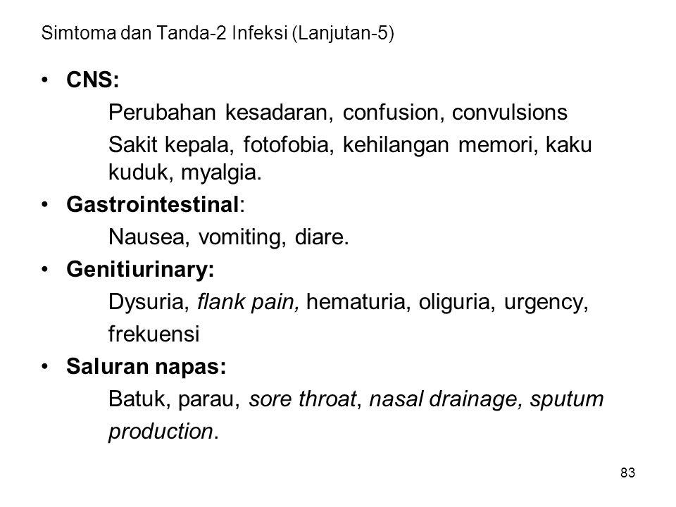 Simtoma dan Tanda-2 Infeksi (Lanjutan-5)