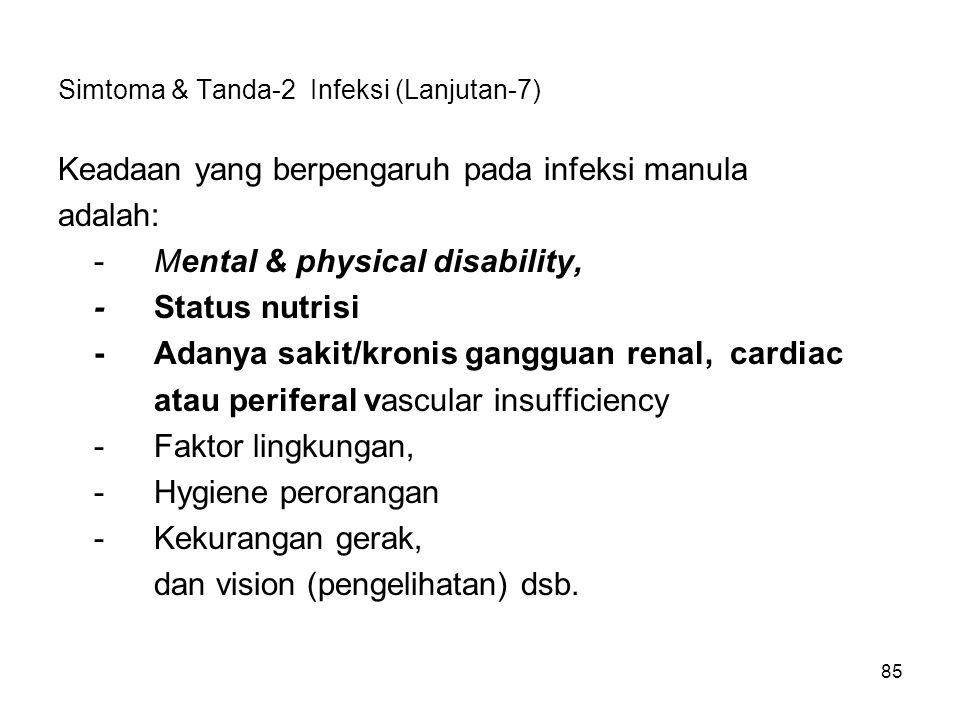 Simtoma & Tanda-2 Infeksi (Lanjutan-7)