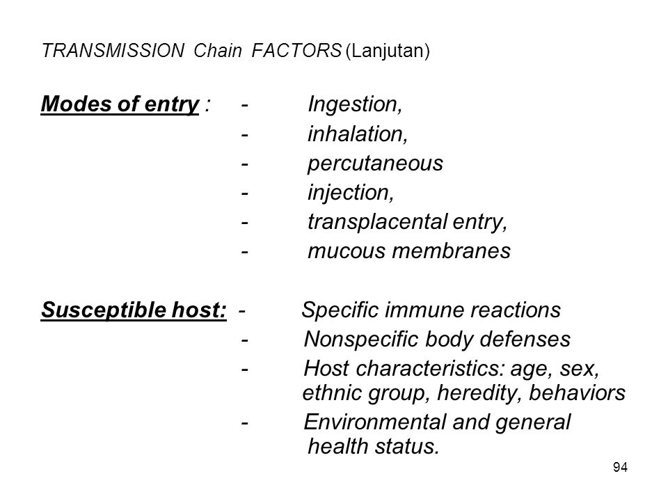 TRANSMISSION Chain FACTORS (Lanjutan)