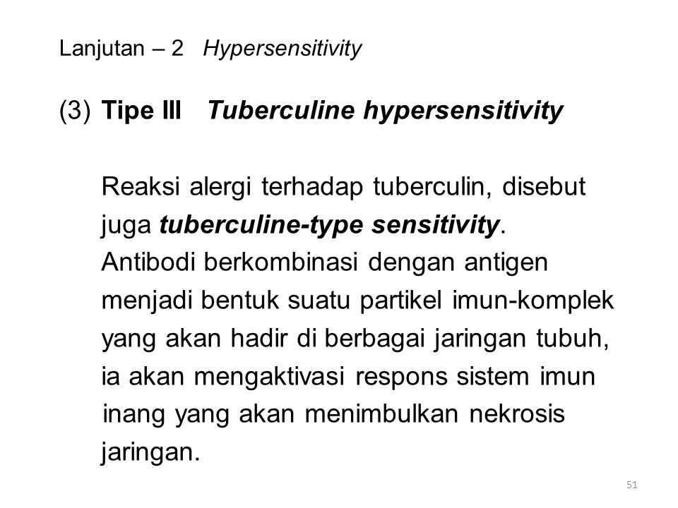 Lanjutan – 2 Hypersensitivity