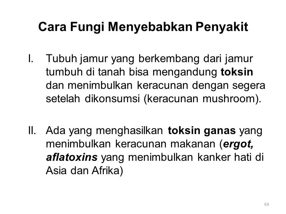 Cara Fungi Menyebabkan Penyakit