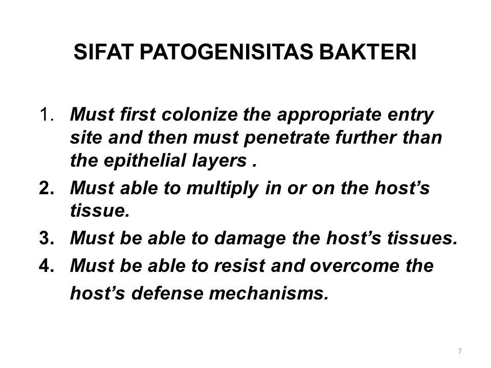 SIFAT PATOGENISITAS BAKTERI