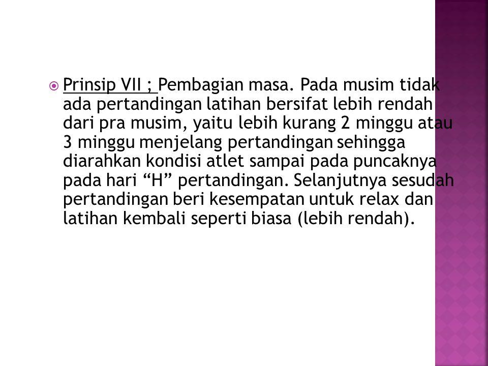 Prinsip VII ; Pembagian masa