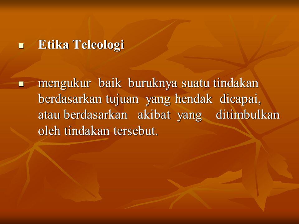 Etika Teleologi