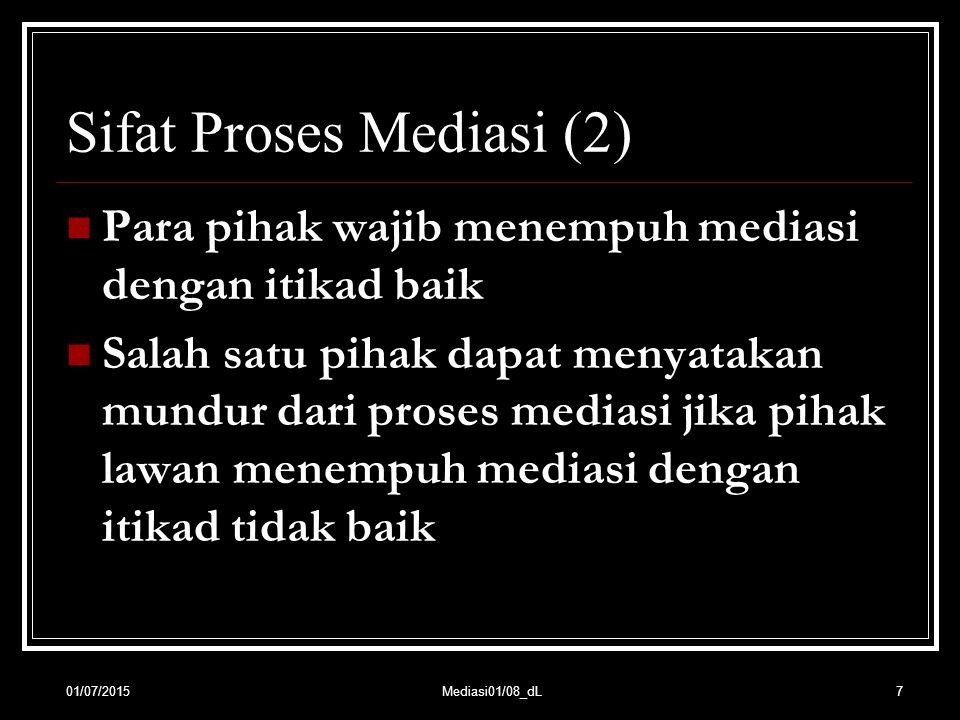Sifat Proses Mediasi (2)