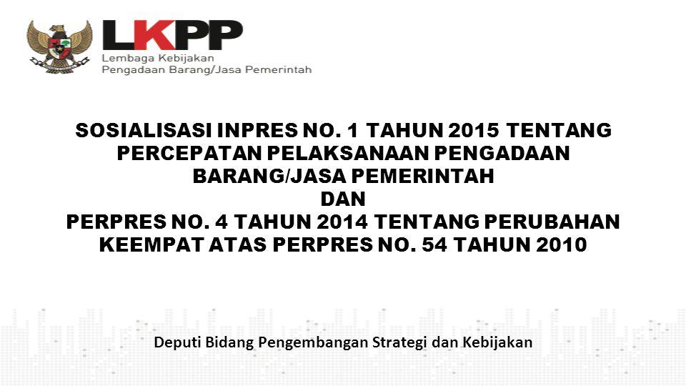 Deputi Bidang Pengembangan Strategi dan Kebijakan