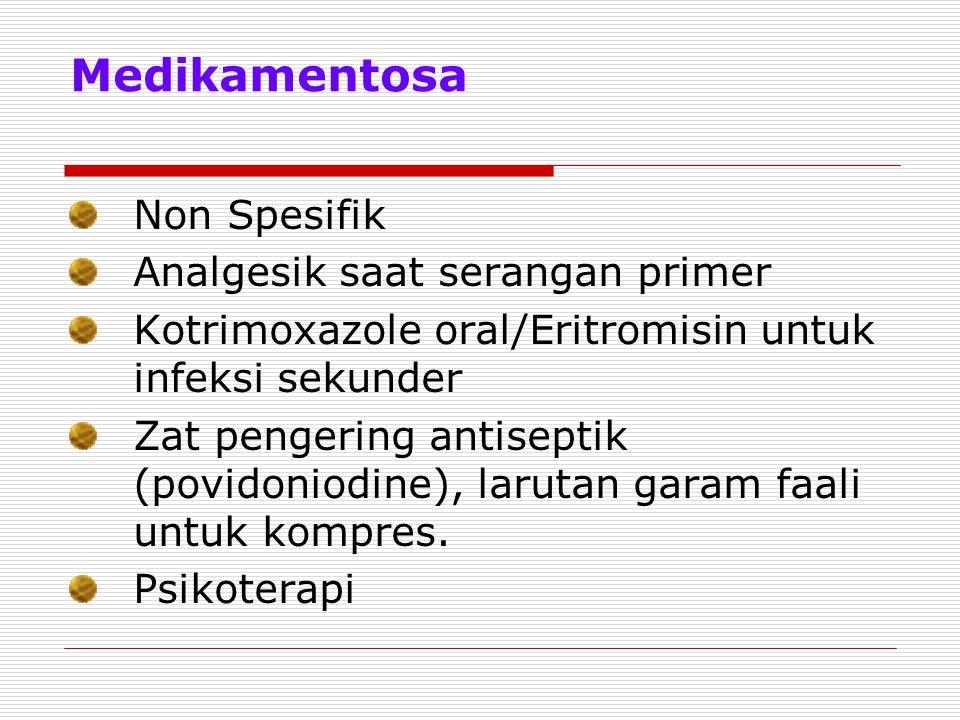 Medikamentosa Non Spesifik Analgesik saat serangan primer