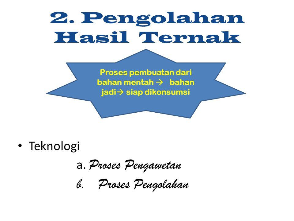 2. Pengolahan Hasil Ternak