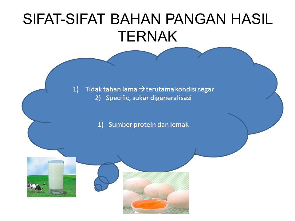 SIFAT-SIFAT BAHAN PANGAN HASIL TERNAK