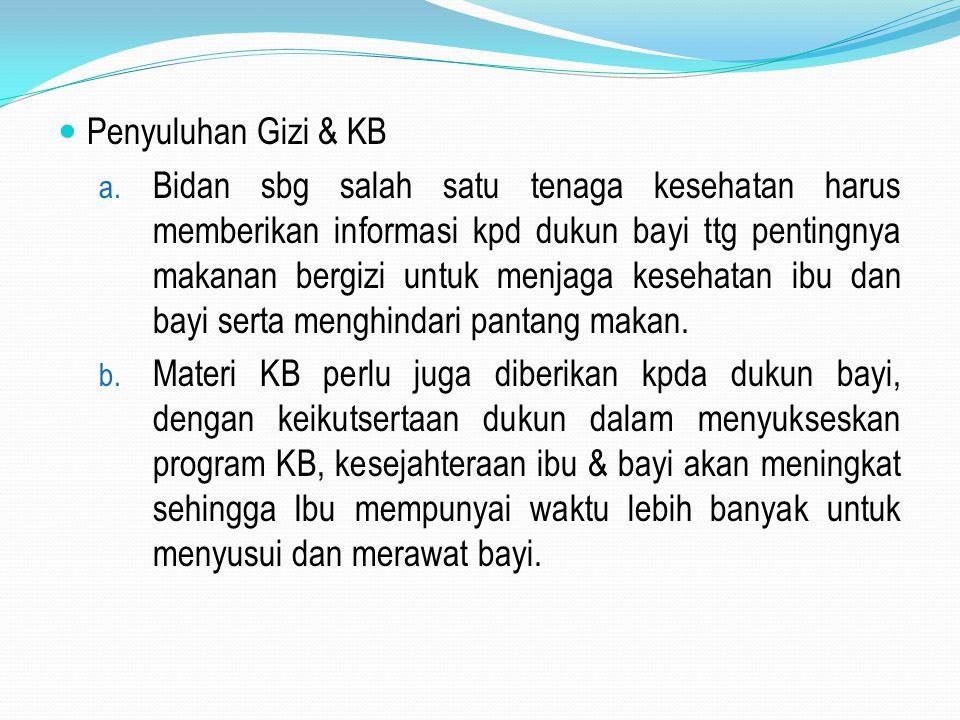Penyuluhan Gizi & KB